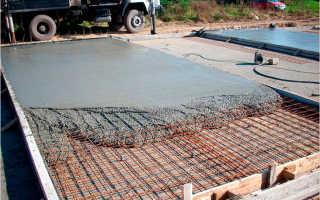Марка бетона для монолитных плит