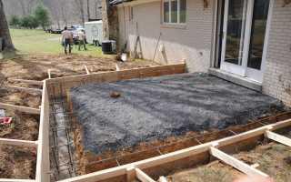 Фундамент под крыльцо: как залить, сделать опалубку и армирование