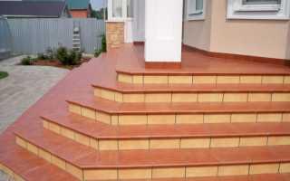 Укладка плитки на крыльцо со ступенями: как положить на улице, чем облицевать или отделать