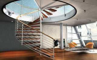 Дизайн винтовой лестницы на второй этаж: материалы и стили