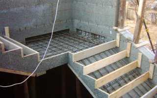 Армирование лестницы: алгоритм действий