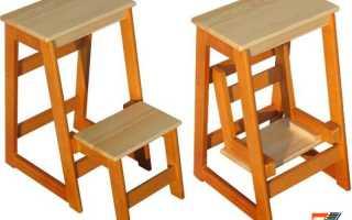 Лестница-стремянка своими руками: как сделать самодельную деревянную стремянку