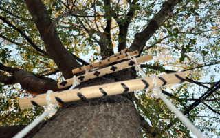 Веревочная лестница своими руками: варианты изготовления