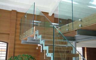 Перила стеклянные: как сделать для лестницы в частном доме стеклянное ограждение