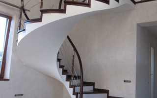 Винтовые лестницы на второй этаж эконом класса: как сделать своими руками монолитную из бетона