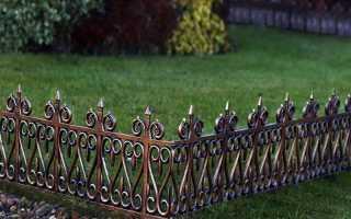 Газонные ограждения металлические для двора (сварные и кованые): цена, фото