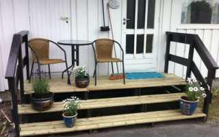 Крыльцо на даче для дачного домика: постройка или пристройка