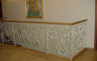 Металлические ограждения для лестницы: особенности конструкции
