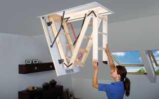 Чердачная лестница, ее конструкция и применение