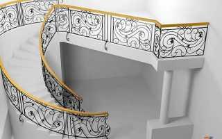 Кованое ограждение лестниц: фото различных стилей