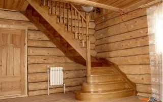 Лестница в бане или какие лучше использовать материалы в лестничной конструкции для бани