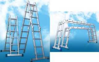 Алюминиевая приставная лестница трансформер: как выбрать универсальную раздвижную систему (стремянку)