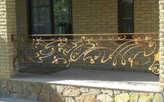 Кованые перила для лестниц: фото, цена, художественная ковка на деревянной лестнице
