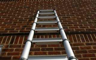 Телескопическая лестница: складная и раздвижная, алюминиевая стремянка