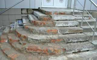 Ремонт бетонного крыльца своими руками в многоквартирном доме: реставрация и покраска