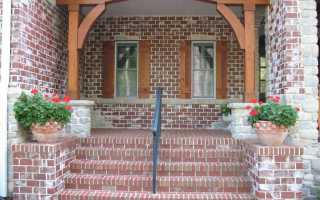 Крыльцо частного дома из кирпича своими руками, как сделать кирпичную пристройку к деревянному и кирпичному зданию