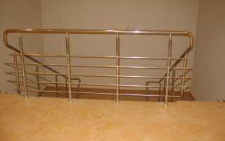 Хромированные перила для лестниц (поручни, ограждения): цена и характеристики