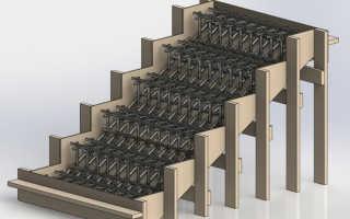 Процесс самостоятельного армирования бетонной лестницы