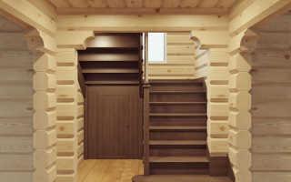 Как сделать лестницу из бруса своими руками в частном доме
