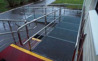 Пандусы для инвалидов: нормы в общественных зданиях (ГОСТ, СНИП) размеры и угол уклона, ограждения