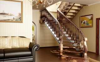 Лестница на второй этаж, размеры: ширина, длина, стандартный размер проема