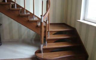 Забежная лестница с поворотом на 90 градусов: описание, расчёты, изготовление