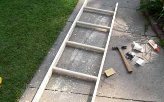 Приставная деревянная лестница своими руками: чертежи, сборка