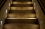 Подсветка ступеней: описание, советы по монтажу