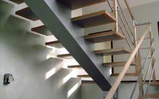 Косоуры лестниц (фото): расчет онлайн крепления сборных ступеней
