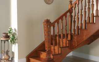 Обзор элементов лестницы из дерева