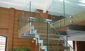 Стеклянные перила лестничных ограждений