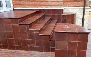 Клинкерная плитка для крыльца на улице: размеры ступеней, укладка и отделка