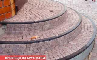 Крыльцо из плитки тротуарной: облицовка ступеней, как выложить тротуарной плиткой, из брусчатки