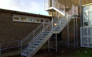 Эвакуационные лестницы: снип для разных типов конструкции