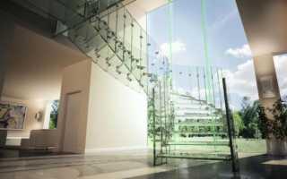 Стеклянные лестницы в дизайне современного дома