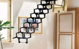 Выдвижная лестница на чердак: раскладная и складная