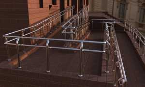 Установка пандуса для инвалидов, требования к конструкции и эксплуатация