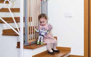Ограждение лестницы от детей: что нужно знать