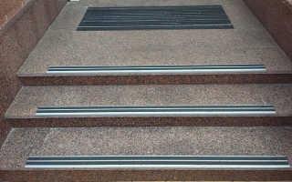 Резиновые накладки на ступени: алюминиевый противоскользящий профиль, антискользящие покрытия