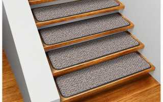 Ковровые накладки на ступени лестницы и их особенности