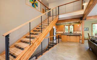 Элементы из дерева для лестницы: ограждения (поручень, балясины), комбинированные и их комплектующие