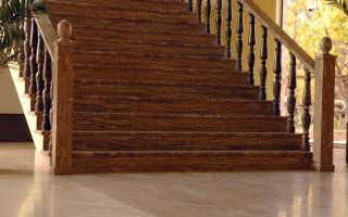 Отделка лестницы деревом, декоративным камнем: варианты облицовки