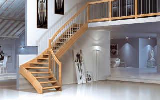 Как рассчитать размеры лестницы с поворотом на 180 градусов