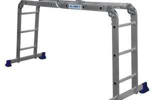 Шарнирная лестница 4х4 трансформер: как правильно выбрать