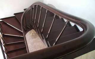 Лестница с забежными ступенями своими руками: фото, описание работ
