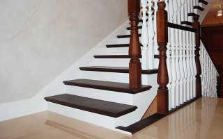 Отделка деревом лестниц: облицовка бетонных, как обшить металлическую своими руками