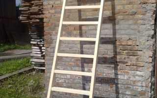 Как сделать приставную деревянную лестницу своими руками: инструкция