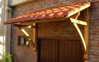 Козырек из дерева над крыльцом своими руками: как сделать деревянный навес