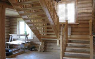 Расчет деревянной лестницы с межэтажной площадкой