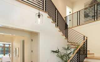 Лестничные ограждения: металлические, деревянные, стеклянные, виды и способы монтажа